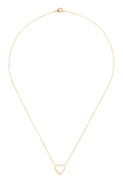 Riah Fashion Heart-Crystal Pave-Necklace - Product Mini Image