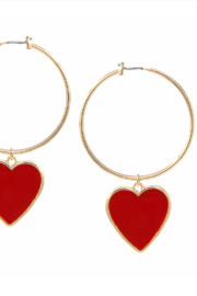 US Jewelry House Heart Drop Earrings - Product Mini Image