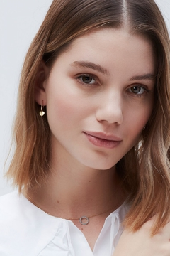 ESTELLA BARTLETT Heart Drop Hoop Earring - Alternate List Image