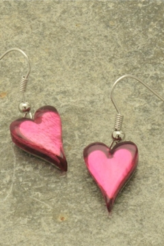 Pink Poodle Boutique Heart Earrings - Alternate List Image