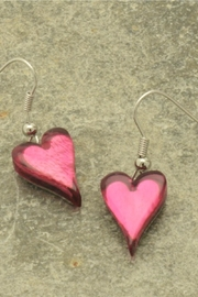 Pink Poodle Boutique Heart Earrings - Product Mini Image