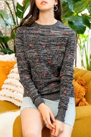 Thml Heart Embroidered Sweater - Product Mini Image