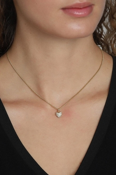 Pilgrim Heart Gold-Plated Necklace - Product List Image