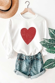 Benie Heart Graphic Sweatshirt - Product Mini Image