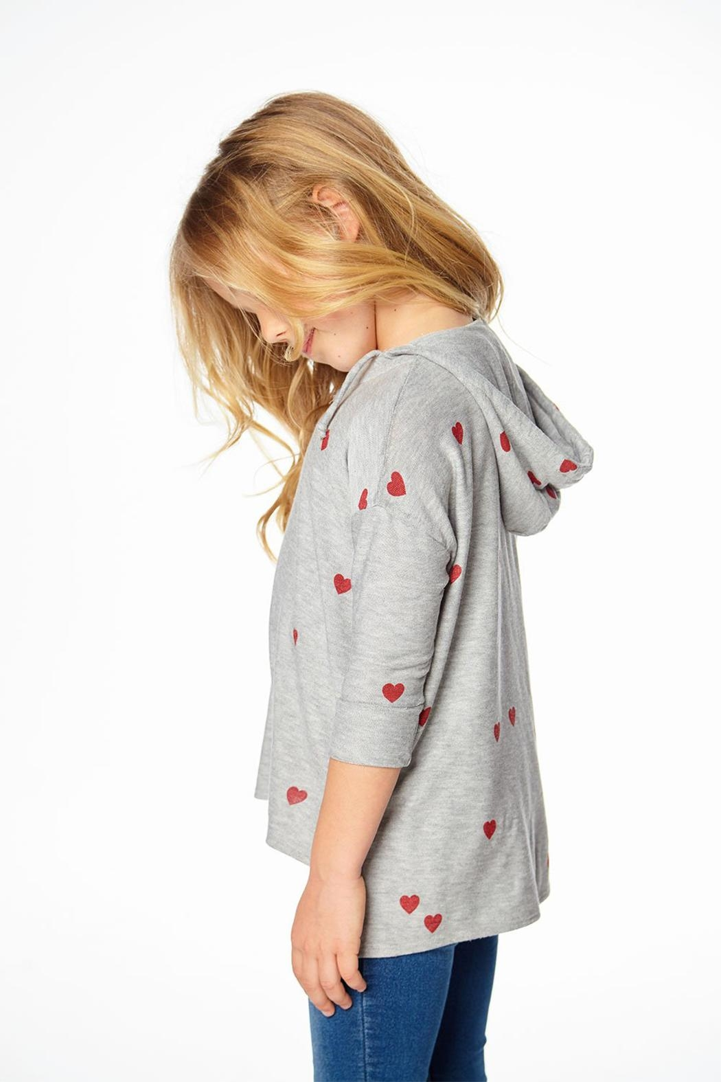 Chaser Heart Hoodie - Back Cropped Image