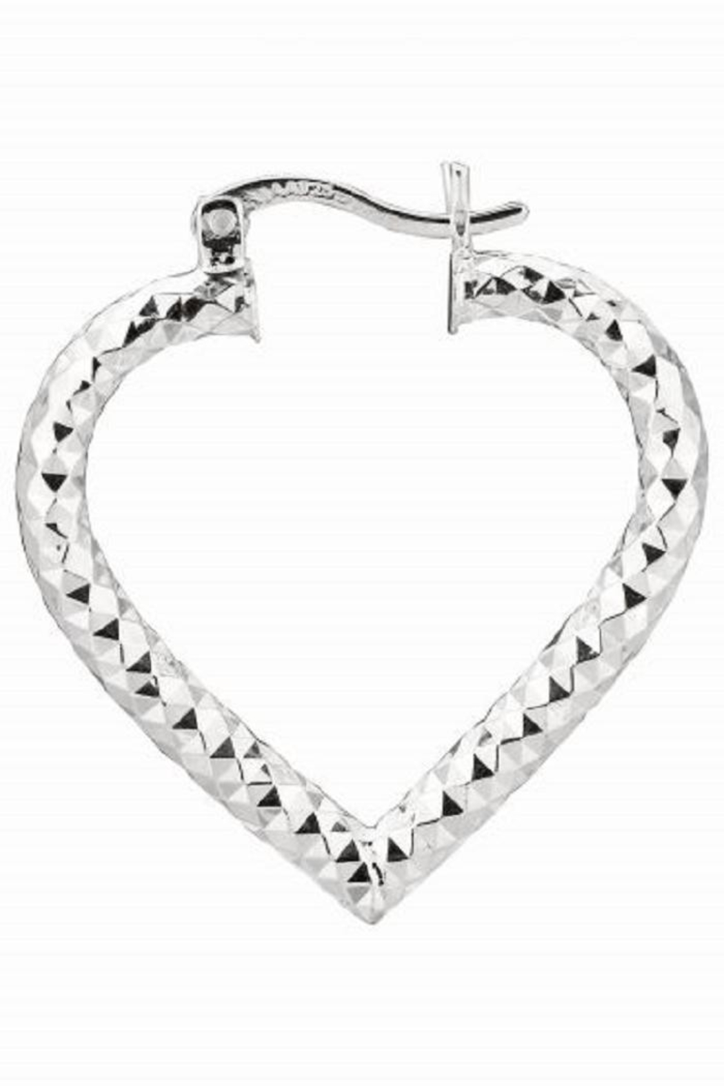 Bling It Around Again Heart Hoop Earrings Front Cropped Image
