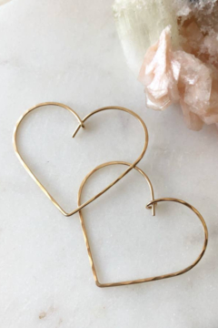 Token Jewelry Heart Hoops - Alternate List Image