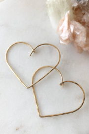 Token Jewelry Heart Hoops - Product Mini Image