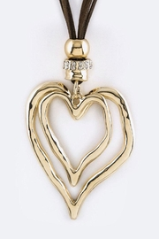 Nadya's Closet Heart Hoops Necklace-Set - Front cropped