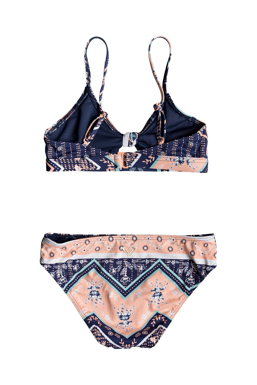 Roxy Heart In The Waves Triangle Bikini Set - Front Full Image