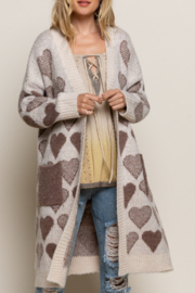 POL  Heart Maxi Cardigan - Product Mini Image
