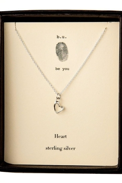 b.u. Jewelry Heart Necklace - Alternate List Image