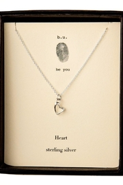 b.u. Jewelry Heart Necklace - Product Mini Image
