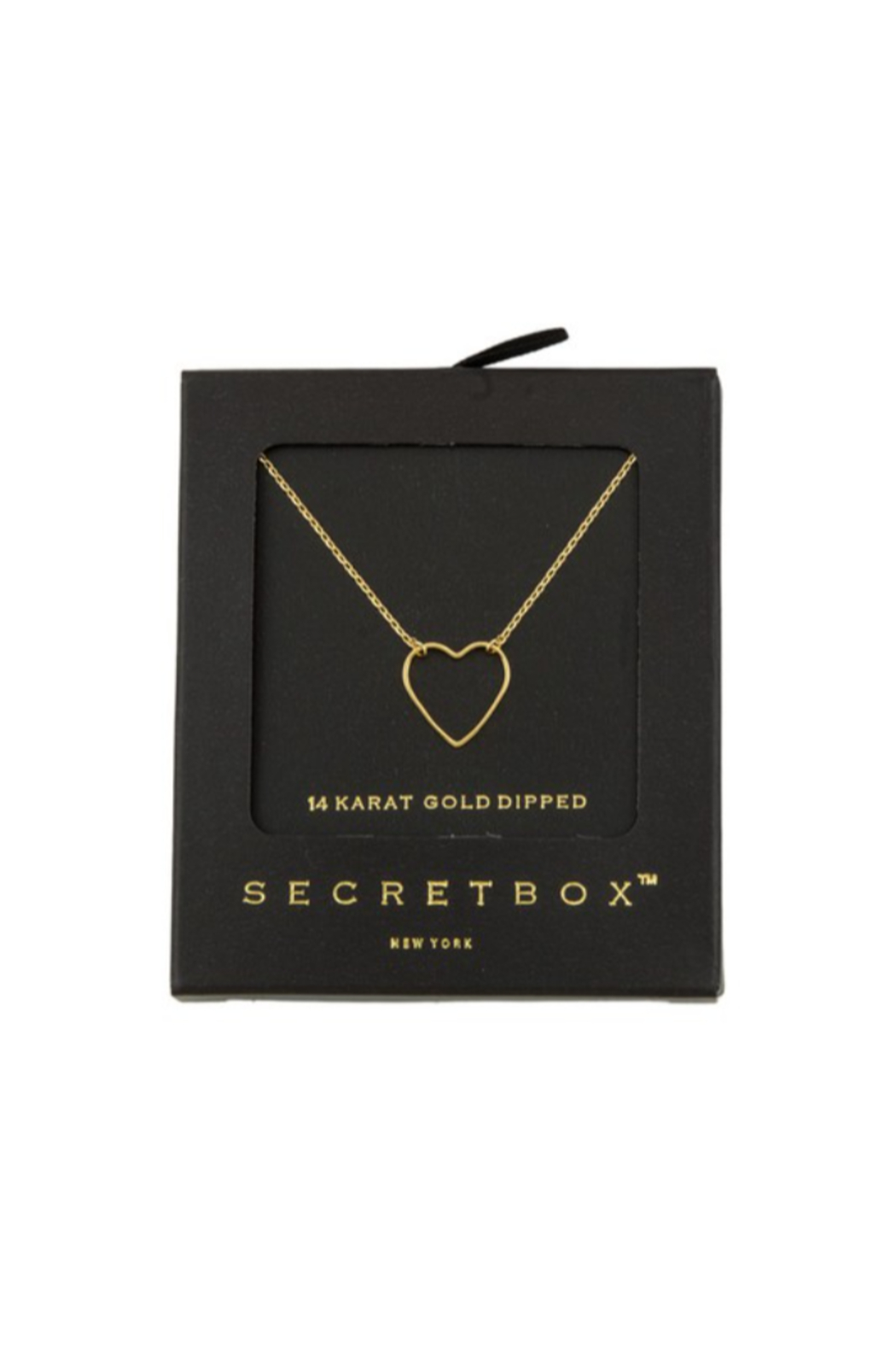 Secret Box Heart Necklace - Front Cropped Image