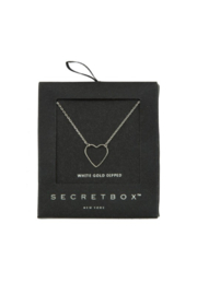 Secret Box Heart Necklace - Front cropped