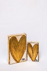 Ginger Leigh Heart On Wood - Product Mini Image