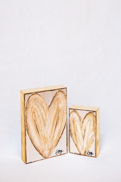 Ginger Leigh Heart On Wood - Product List Image