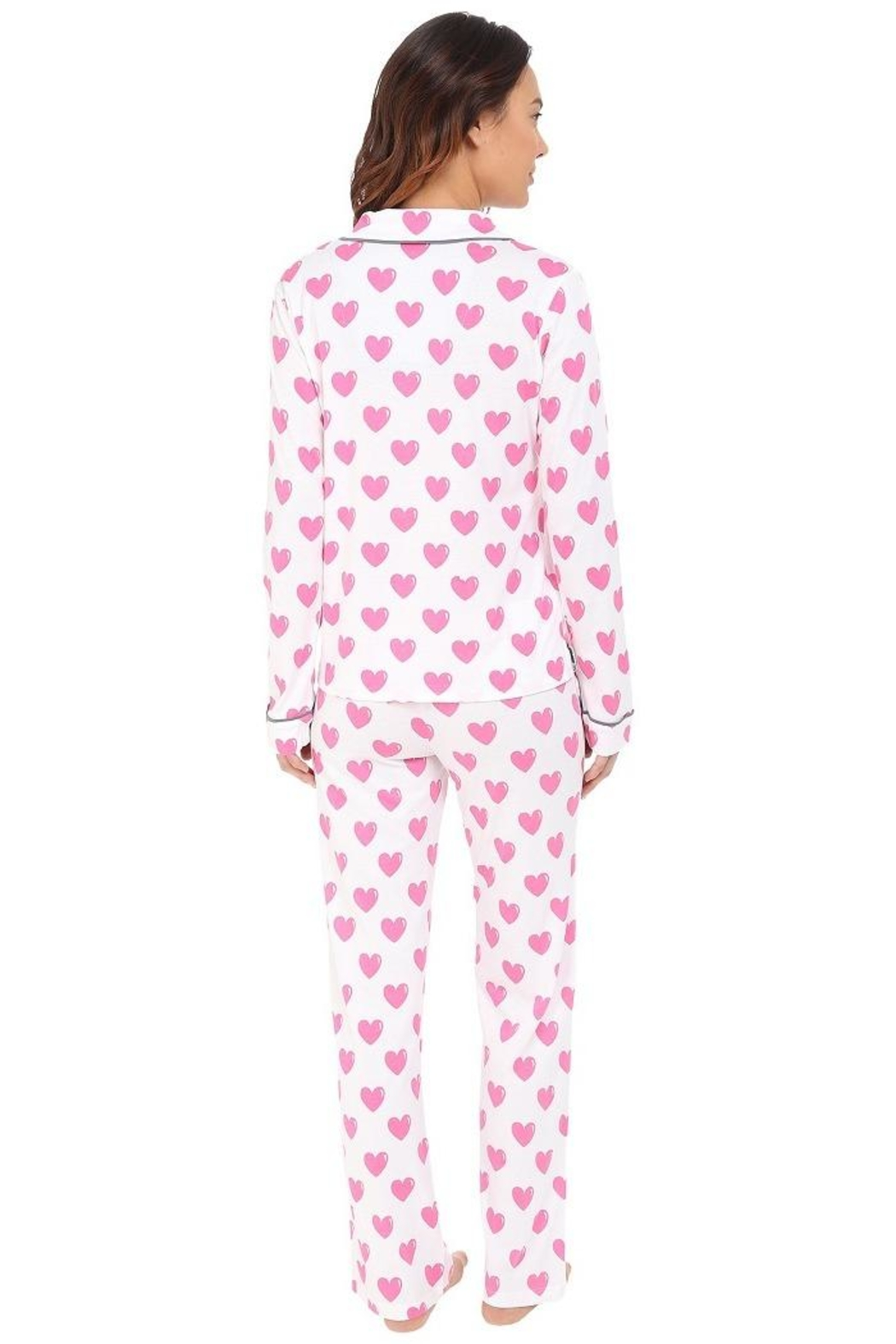 PJ Salvage Heart Pajama Set - Front Full Image