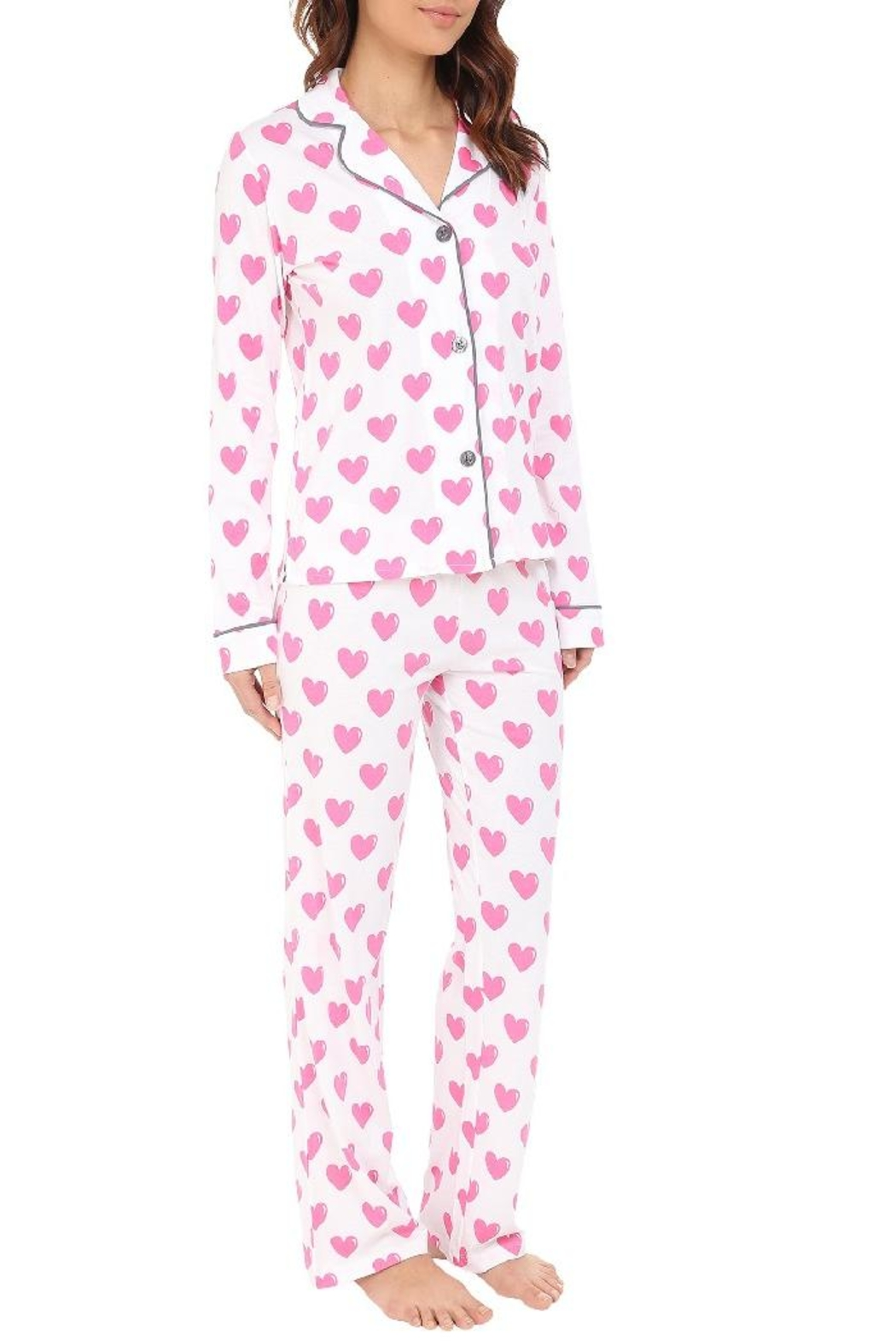 PJ Salvage Heart Pajama Set - Main Image