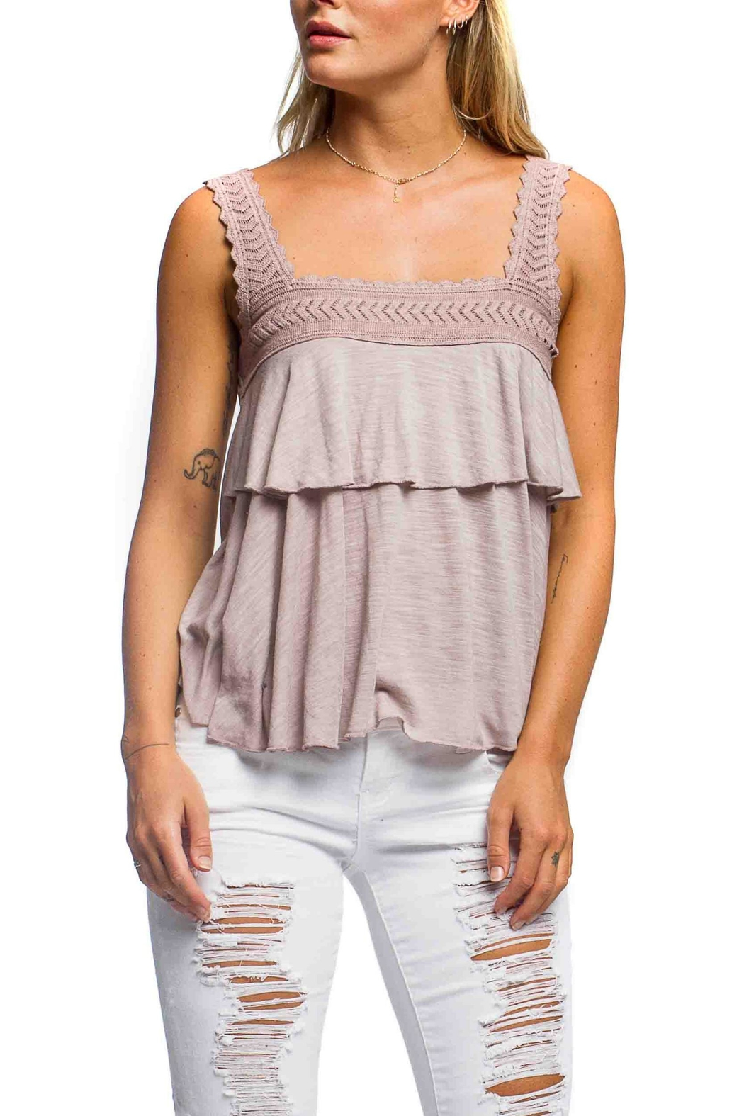Anama Heart Patch Tank - Front Cropped Image