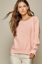Andree by Unit Heart Pattern Sweater - Front cropped