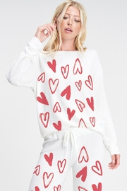 Phil Love  Heart Print Cozy Lounge Set - Product Mini Image
