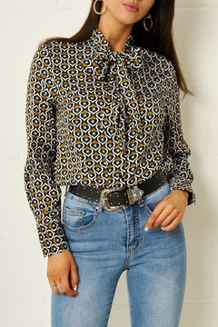 frontrow Heart-Print Pussybow Blouse - Product List Image