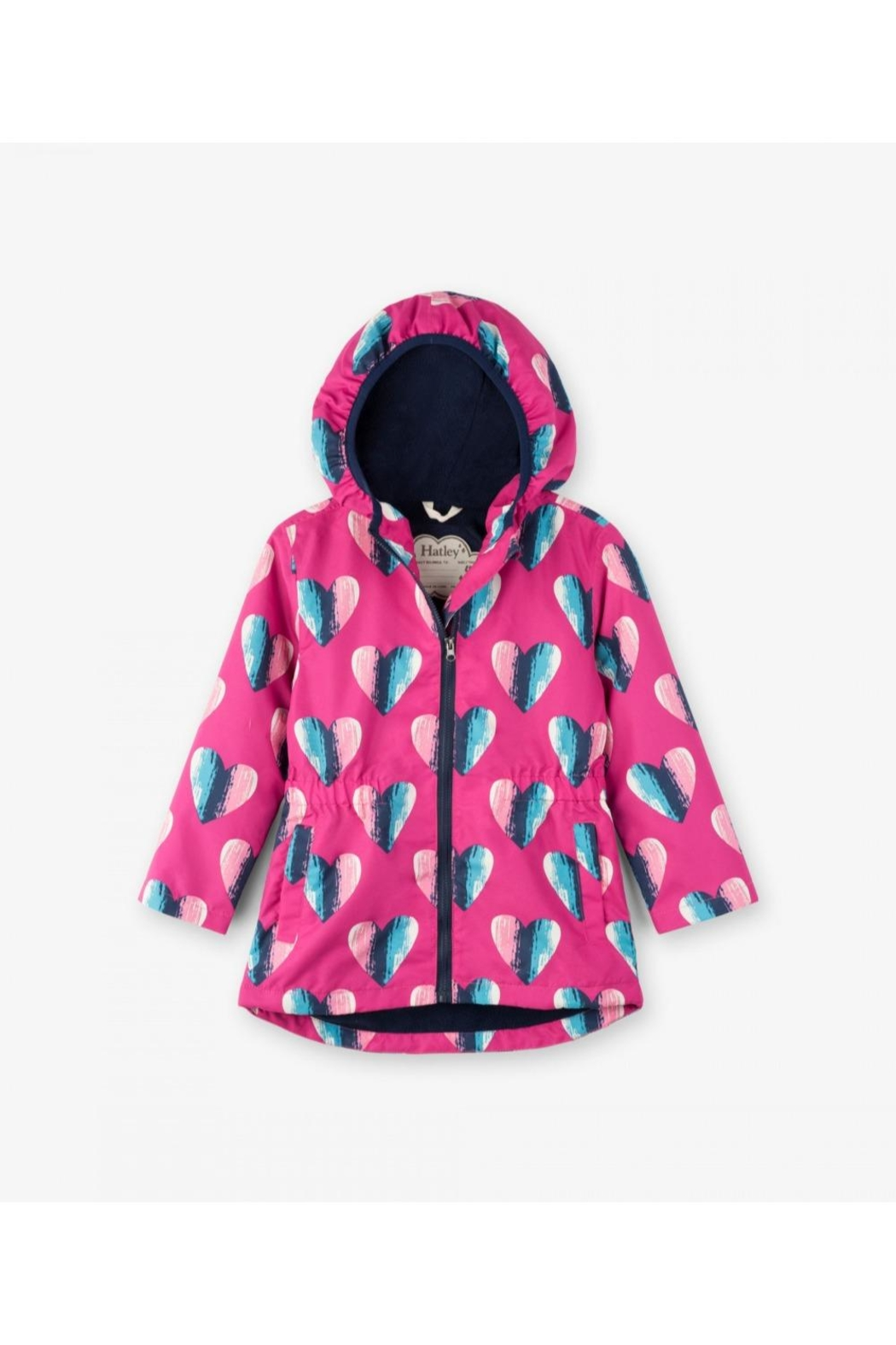 Hatley Heart Raincoat - Front Cropped Image