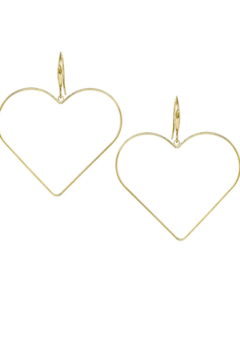 US Jewelry House Heart Shape Hoop Drop Earrings - Alternate List Image