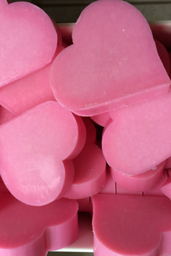 La Belle France Heart shaped soaps wrapped with organza bags - Product List Image