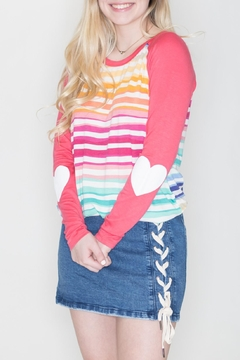 Fantastic Fawn Heart Sleeve Top - Product List Image