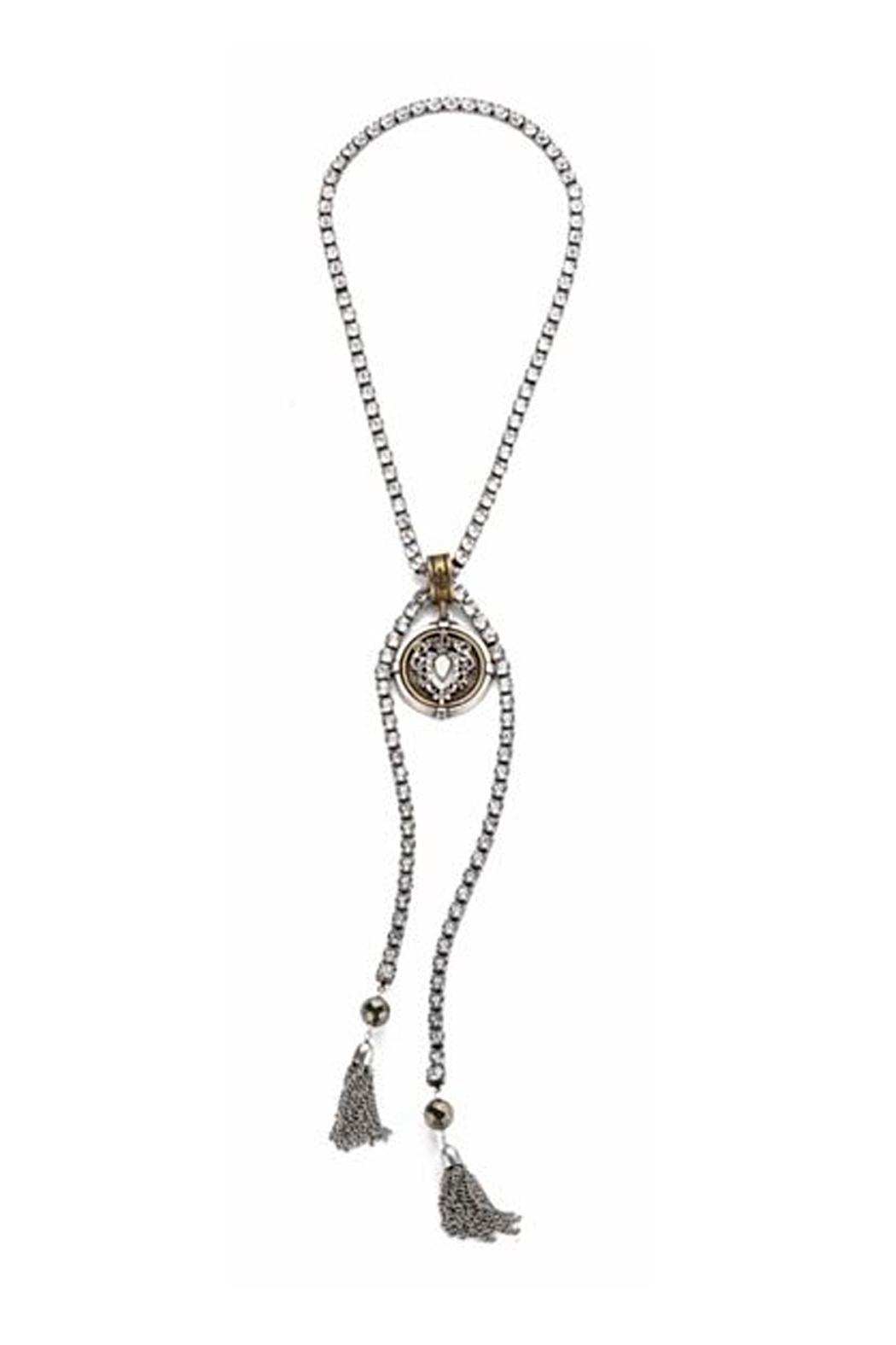 French Kande Heart Stack Necklace - Main Image