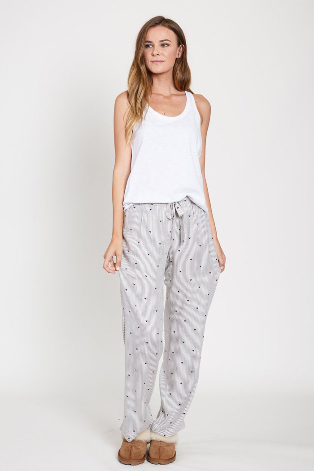 Dylan Heart Stripe Pant - Side Cropped Image