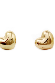 US Jewelry House Heart Stud Earrings - Front cropped