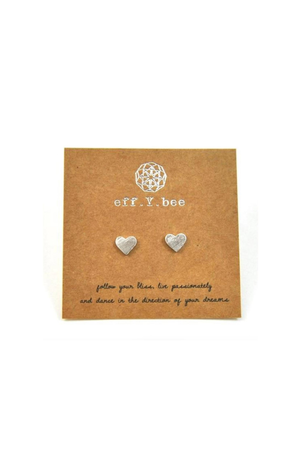Lets Accessorize Heart Studs - Front Cropped Image