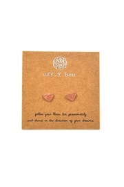 Lets Accessorize Heart Studs - Front cropped