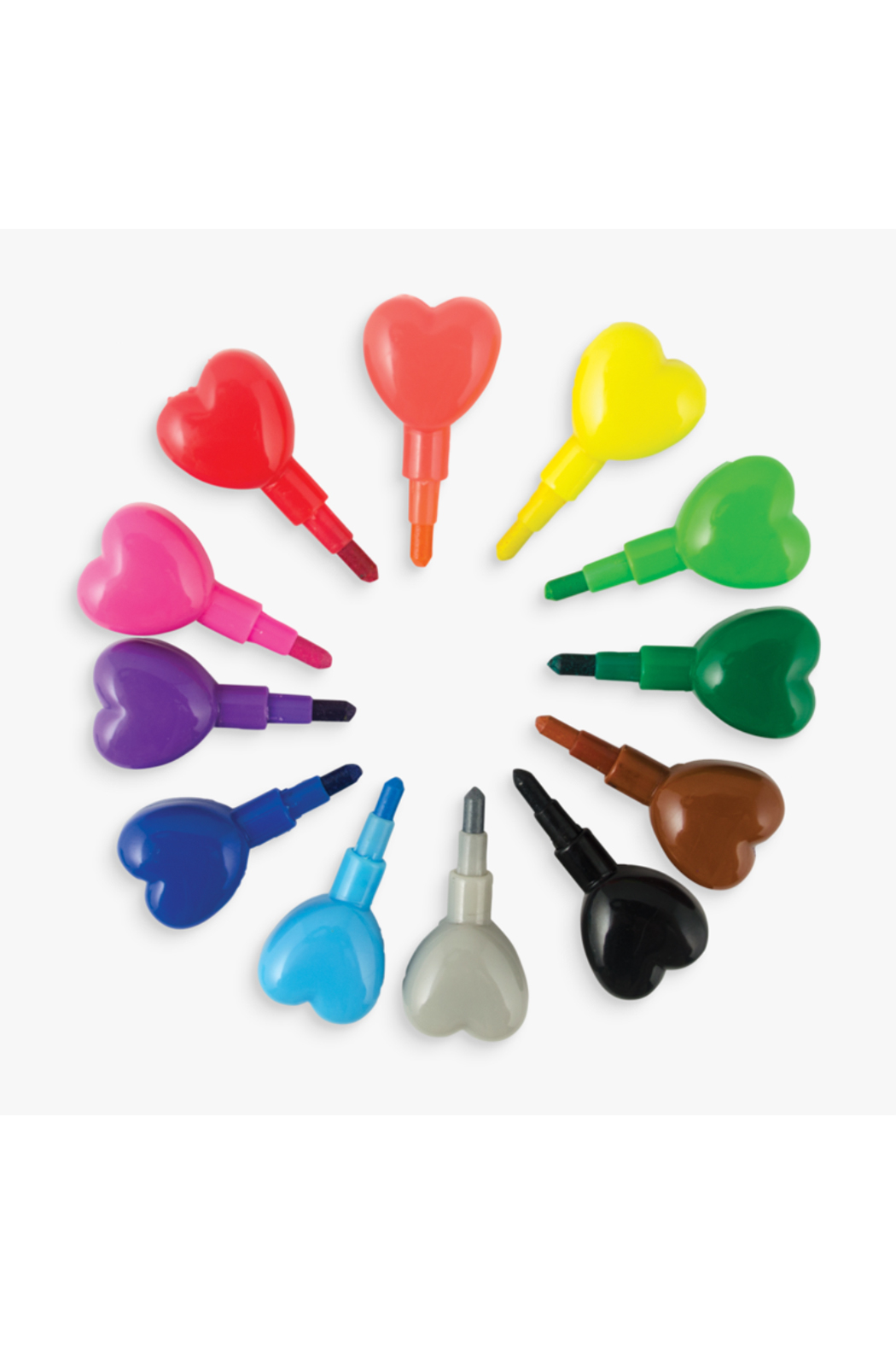 Ooly Heart to Heart Stacking Crayons - Front Full Image