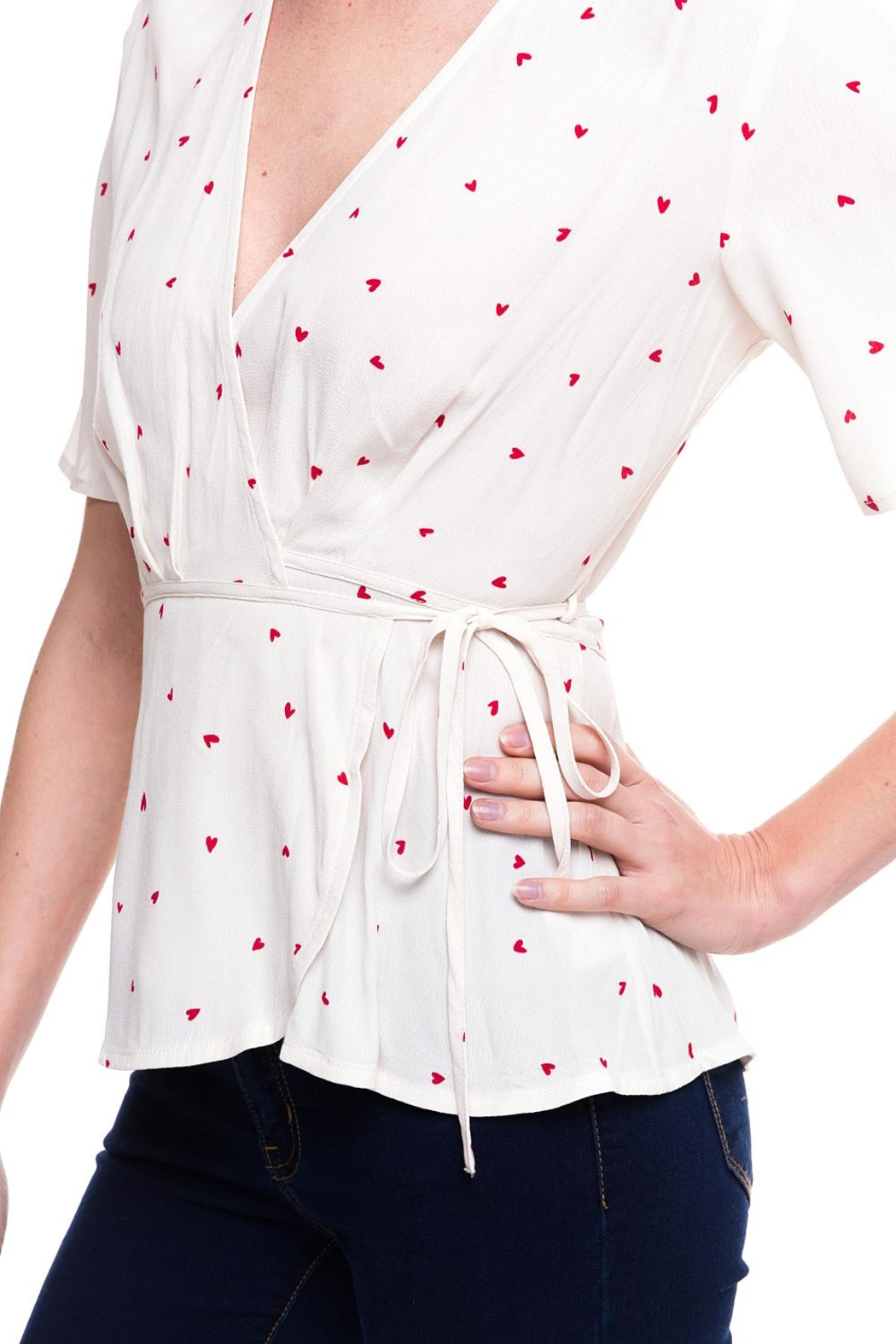 dress forum Heart Wrap Top - Back Cropped Image