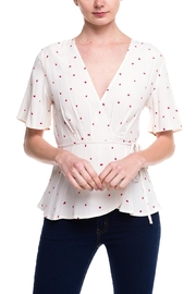 dress forum Heart Wrap Top - Front cropped