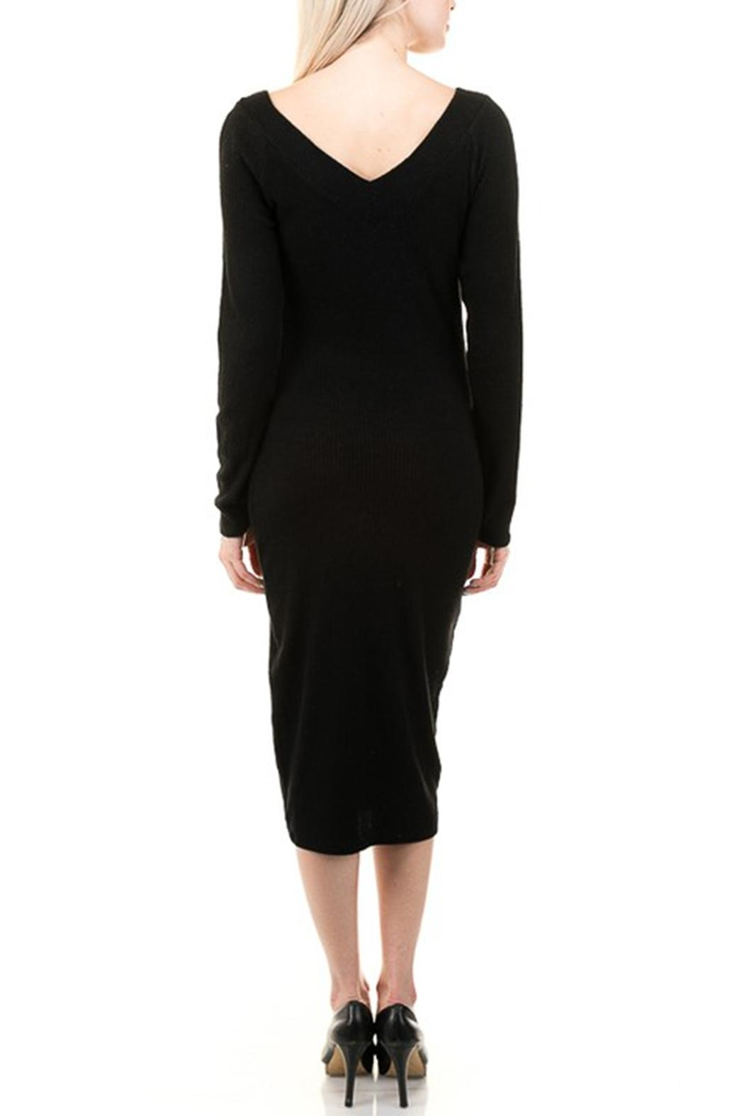 Heart & Hips Bodycon Sweater Dress - Front Full Image