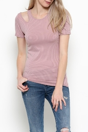 Heart & Hips Cold Shoulder Top - Front cropped