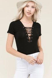 Heart & Hips Lace Up Bodysuit - Product Mini Image