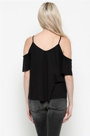 Heart & Hips Lace-Up Cold-Shoulder Top - Front full body