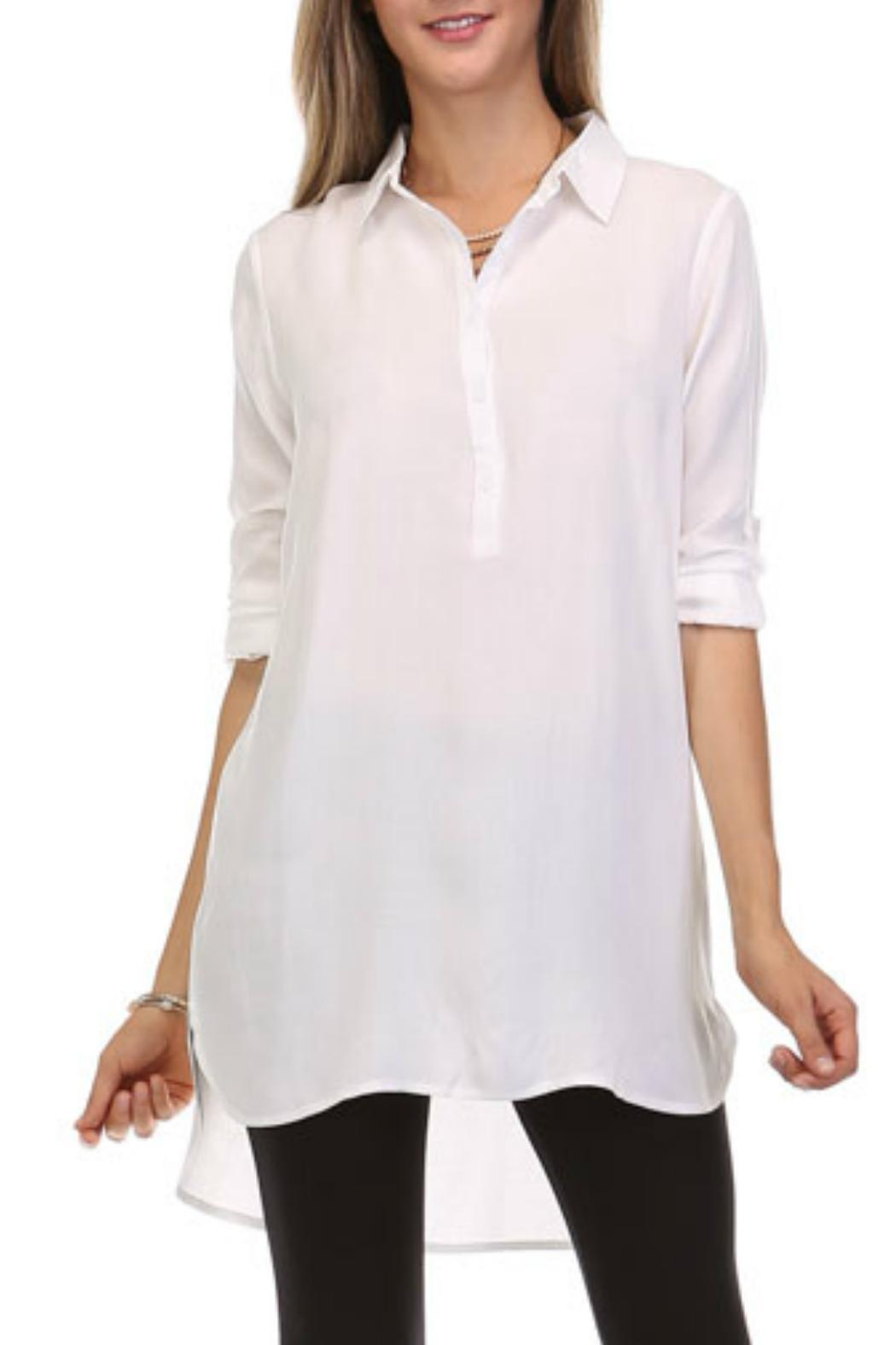 Heart & Hips Simple N Sleek Shirt - Front Cropped Image