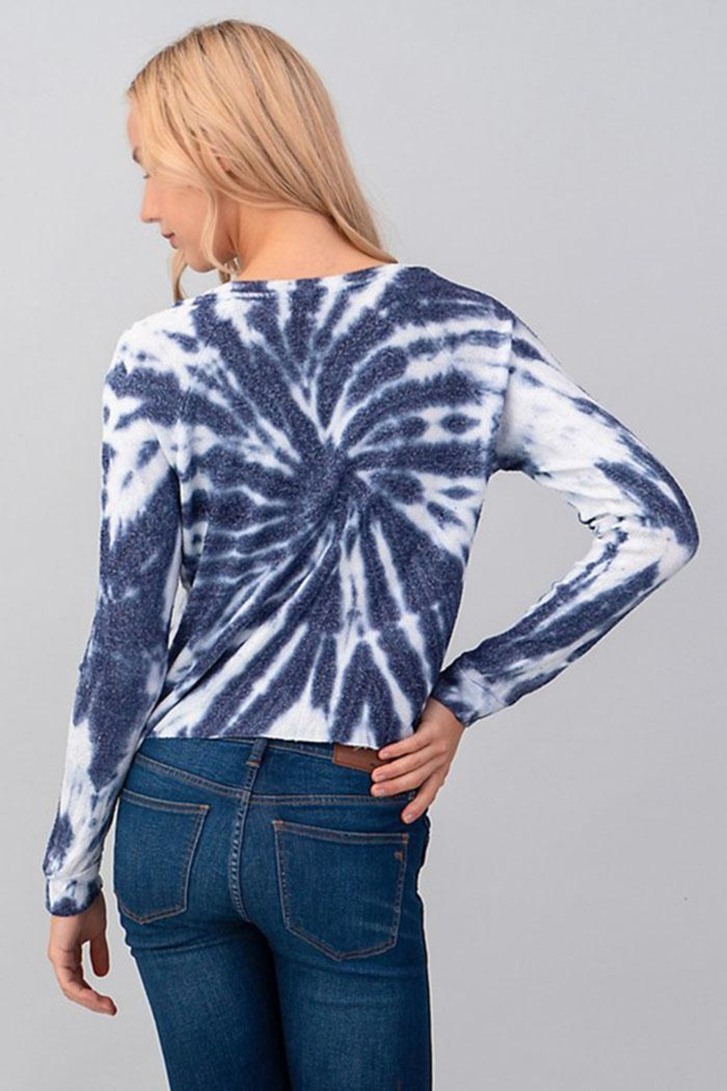 Heart & Hips Tie Dye Top - Back Cropped Image