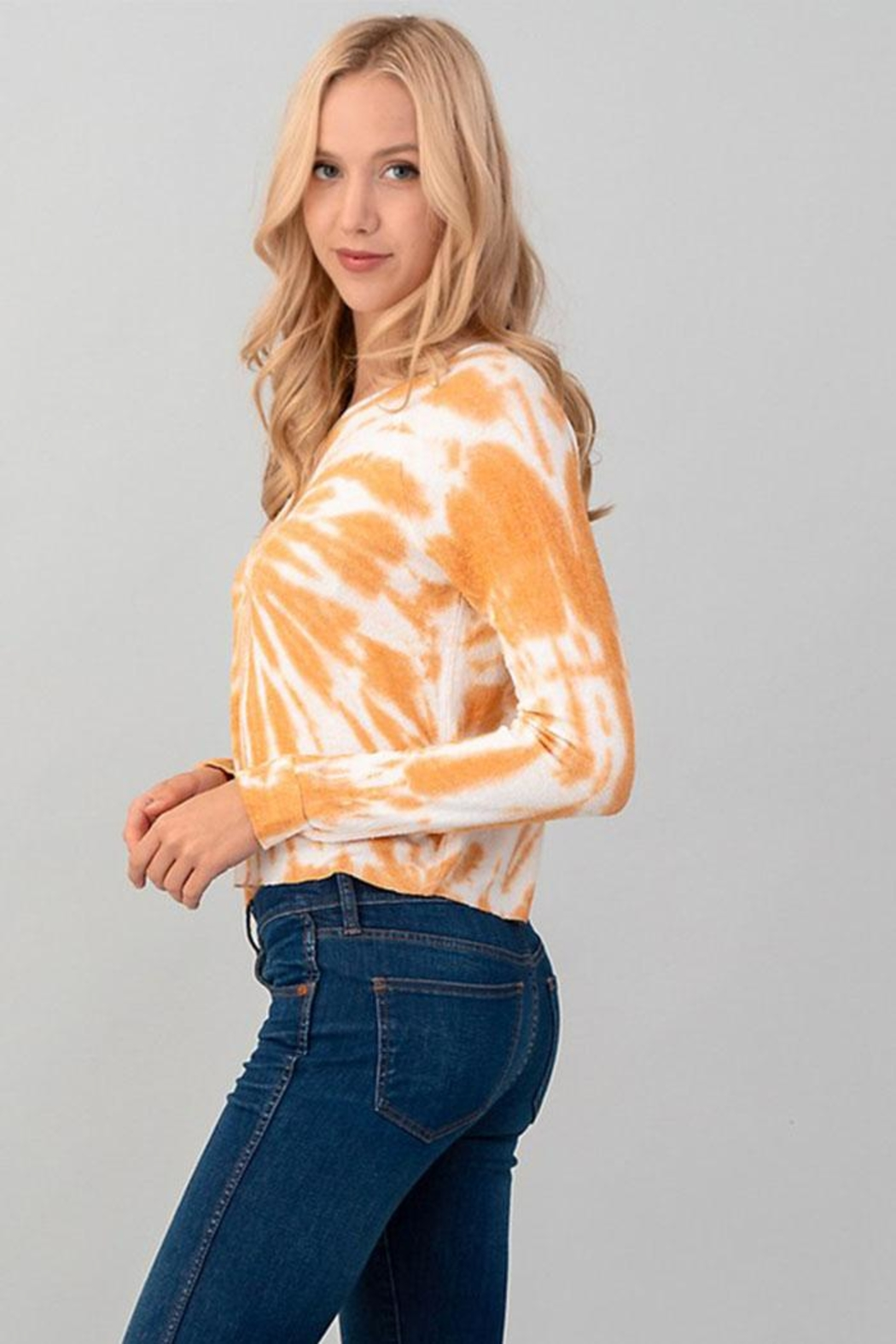 Heart & Hips Tie Dye Top - Side Cropped Image