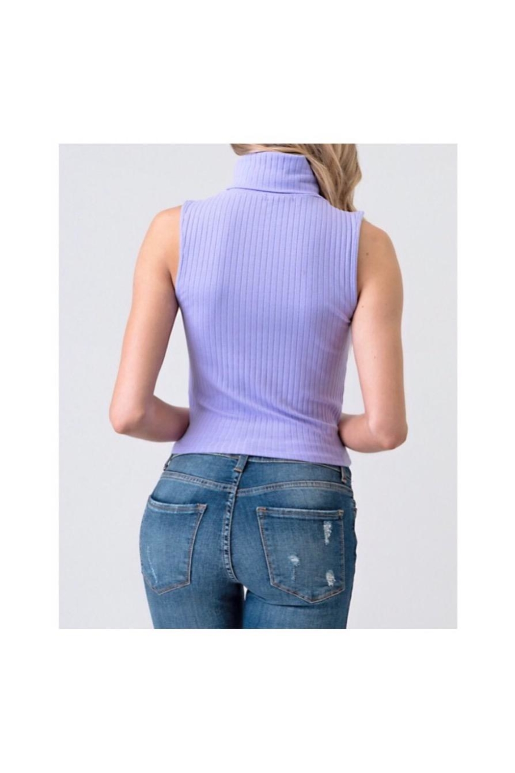 Heart & Hips Turtle Neck Top - Front Full Image