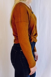 Heart & Hips Waffle Knit Top - Side cropped