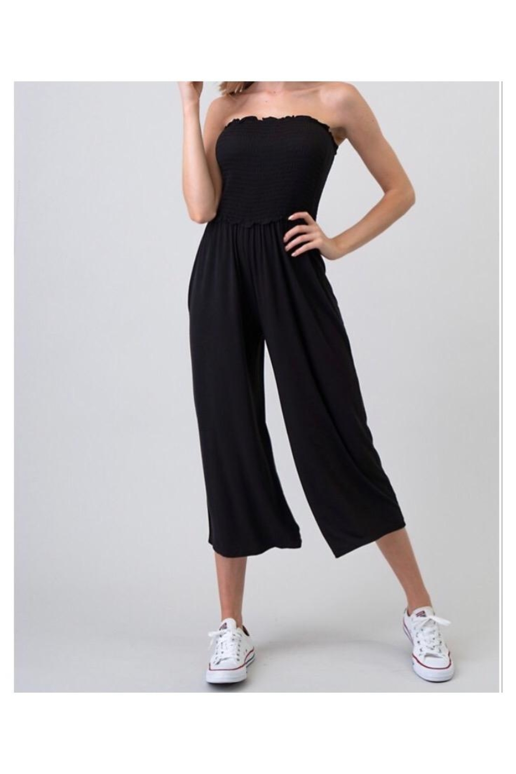 Heart & Hips Wide Pants Jumpsuit - Front Cropped Image