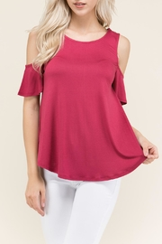 Heart and Hips Cold Shoulder Top - Product Mini Image